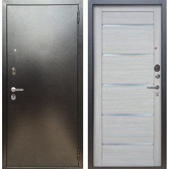 Входная дверь Аргус Люкс ПРО Александра (Серебро антик / Буксус)