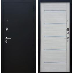 Входная дверь Аргус Люкс ПРО Александра (Чёрный шелк / Буксус)