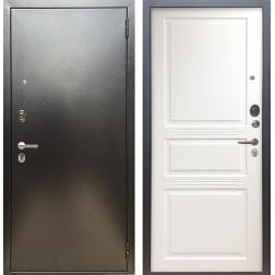 Входная дверь Аргус Люкс ПРО Джулия-2 (Серебро антик / Белый жемчуг)