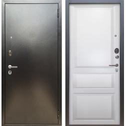 Входная дверь Аргус Люкс ПРО Каролина (Серебро антик / Белый жемчуг)