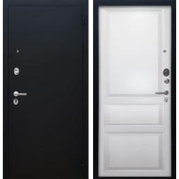 Входная дверь Аргус Люкс ПРО Каролина (Чёрный шелк / Белый жемчуг)
