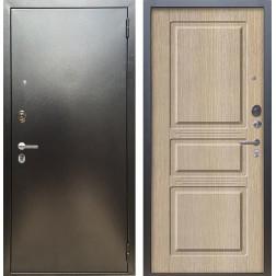 Входная дверь Аргус Люкс ПРО Сабина (Серебро антик / Капучино)