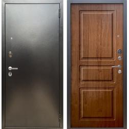 Входная дверь Аргус Люкс ПРО Сабина (Серебро антик / Золотой дуб)