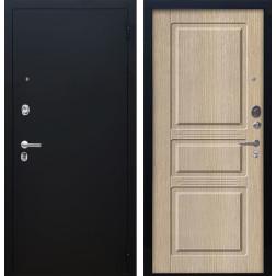 Входная дверь Аргус Люкс ПРО Сабина (Чёрный шелк / Капучино)