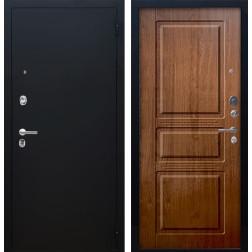 Входная дверь Аргус Люкс ПРО Сабина (Чёрный шелк / Золотой дуб)