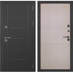 Уличная дверь с терморазрывом ДК Термаль (Серебристый антик / Дуб белёный)