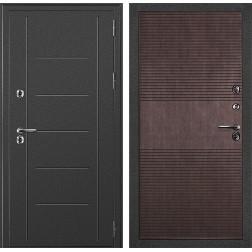 Уличная дверь с терморазрывом ДК Термаль (Серебристый антик / Венге)