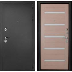 Входная дверь ДК Гарант-1 Царга 3К (Серебристый антик / Капучино)
