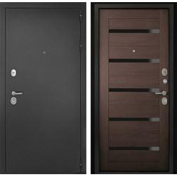 Входная дверь ДК Гарант-1 Царга 3К (Серебристый антик / Венге)