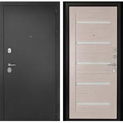 Входная дверь ДК Гарант-1 Царга 3К (Серебристый антик / Лиственница)