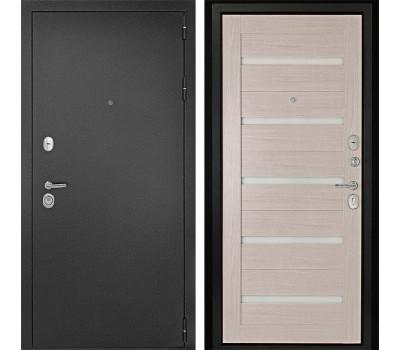 Входная металлическая дверь Континент Гарант-1 Царга 3К (Серебристый антик / Лиственница)