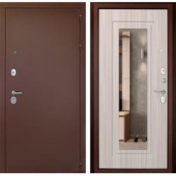 Входная дверь Дверной Континент Гарант-1 с Зеркалом (Сандал белый)