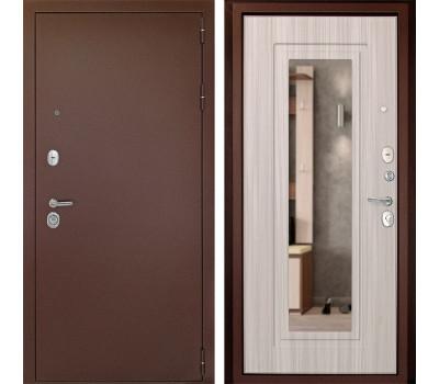 Входная металлическая дверь Дверной Континент Гарант-1 с Зеркалом (Сандал белый)