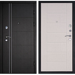 Входная дверь Дверной Континент Тепло-Люкс 3К (Венге / Дуб беленый)