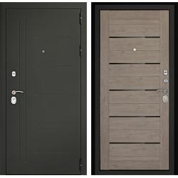 Входная дверь Дверной Континент Сити-С 3К (Серый графит / Лиственница серая)