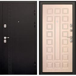 Входная дверь Дверной Континент Сити 3К (Чёрный графит / Дуб беленый)