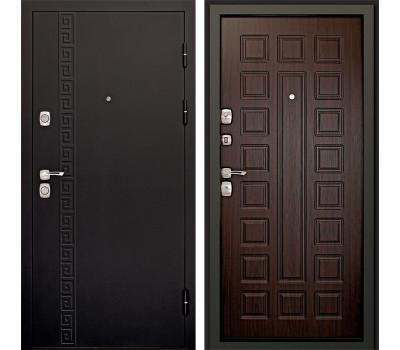 Входная металлическая дверь Дверной Континент Сити 3К (Чёрный графит / Венге)