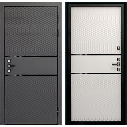 Входная металлическая дверь ДК Диаманте 3К (Графит софт / Софт Айс)