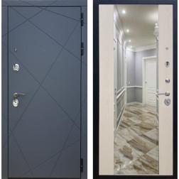Входная дверь Армада 13 с Зеркалом СБ-16 (Графит софт / Лиственница беж)