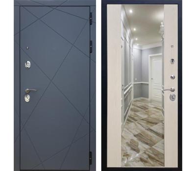 Входная металлическая дверь Армада 13 с Зеркалом СБ-16 (Графит софт / Лиственница беж)
