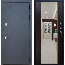 Входная дверь Армада 13 с Зеркалом СБ-16 (Графит софт / Венге)