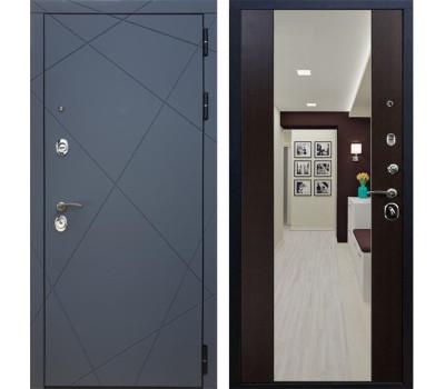 Входная металлическая дверь Армада 13 с Зеркалом СБ-16 (Графит софт / Венге)