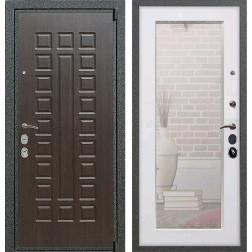 Входная дверь Армада 4А Mottura с Зеркалом Пастораль (Венге / Белый ясень)
