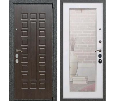 Входная металлическая дверь Армада 4А Mottura с Зеркалом Пастораль (Венге / Белый ясень)