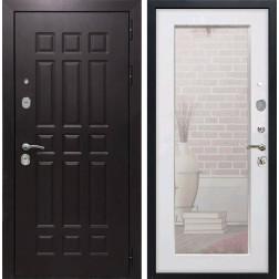 Дверь Армада Сенатор 8 с Зеркалом Пастораль (Венге / Белый ясень)