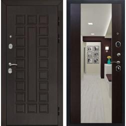 Входная металлическая дверь Армада Сенатор СБ-16 с Зеркалом (Венге / Венге)