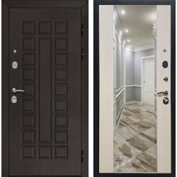 Входная дверь Армада Сенатор СБ-16 с Зеркалом (Венге / Лиственница беж)