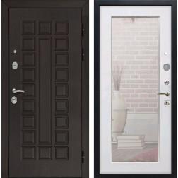 Дверь Армада Сенатор 3К с Зеркалом Пастораль (Венге / Белый ясень)