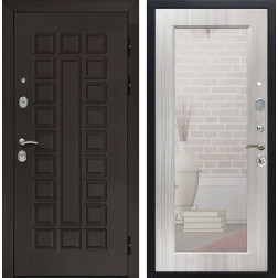 Дверь Армада Сенатор 3К с Зеркалом Пастораль (Венге / Сандал белый)