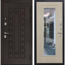 Входная дверь Армада Сенатор 3К с Зеркалом (Венге / Беленый дуб)