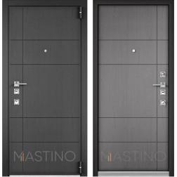 Входная дверь Mastino Forte (Синхропоры графит MS-114 / Синхропоры титан MS-114)