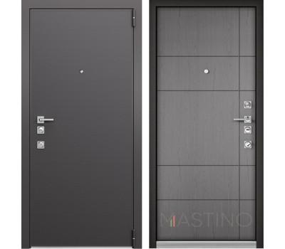 Входная металлическая дверь Mastino Forte (Реалвуд графит MS-100 / Cинхропоры титан MS-114)