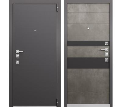 Входная металлическая дверь Mastino Forte (Реалвуд графит MS-100 / Бетон тёмный MS-118)