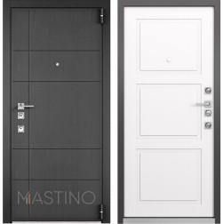 Входная дверь Mastino Forte (Синхропоры графит MS-114 / Cинхропоры милк MS-104)