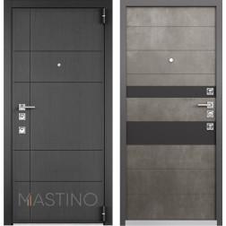 Входная дверь Mastino Forte (Синхропоры графит MS-114 / Бетон темный MS-118)