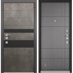 Входная дверь Mastino Forte (Бетон темный MS-118 / Cинхропоры титан MS-114)