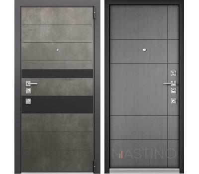 Входная металлическая дверь Mastino Forte (Бетон темный MS-118 / Cинхропоры титан MS-114)