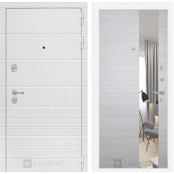 Входная металлическая дверь Лабиринт Трендо Зеркало (Акация светлая)