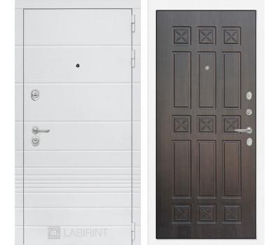 Входная металлическая дверь Лабиринт Трендо 16 (Белый камень / Алмон 28)