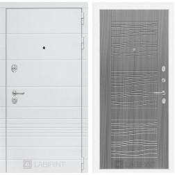 Входная металлическая дверь Лабиринт Трендо 6 (Белый камень / Сандал серый)