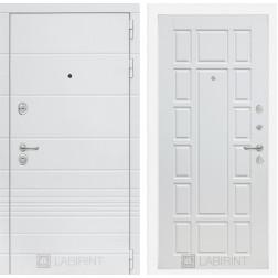 Входная металлическая дверь Лабиринт Трендо 12 (Белый камень / Белое дерево)