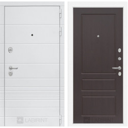Входная металлическая дверь Лабиринт Трендо 3 (Белый камень / Орех премиум)