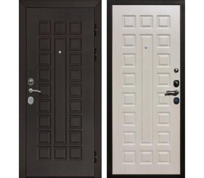 Входная металлическая дверь Армада Сенатор с замком Cisa (Венге / Беленый дуб)