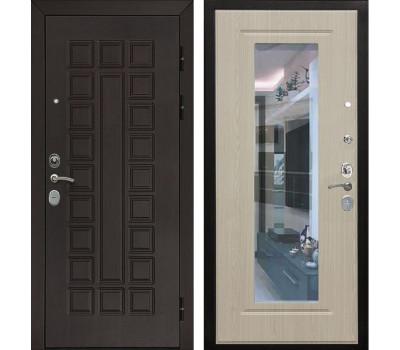 Входная металлическая дверь Армада Сенатор Cisa с Зеркалом (Венге / Дуб беленый)