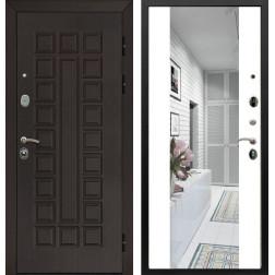 Входная дверь Армада Сенатор с Зеркалом СБ-16 (Венге / Белый матовый)