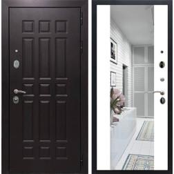 Входная дверь Армада Сенатор 8 с Зеркалом СБ-16 (Венге / Белый матовый)